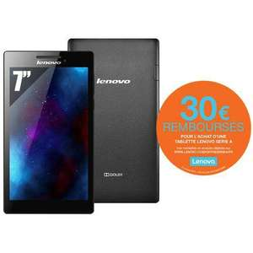 """Tablette 7"""" Lenovo Tab 2 A7-10 (via ODR 30€)"""