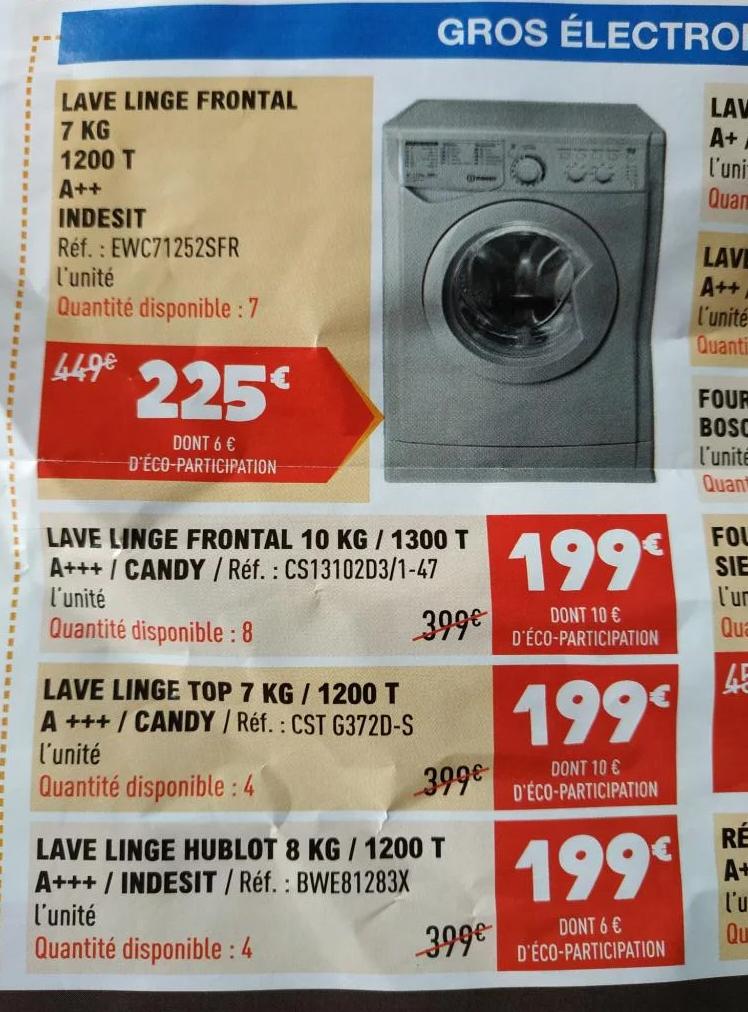 Lave-Linge Frontal Candy CS13102D3, 10Kg - Outreau (62)