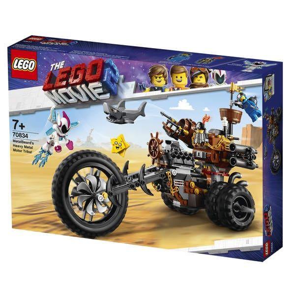 Jeu de construction Lego Movie 2 : Le tricycle motorisé en métal de Barbe d'Acier n°70834