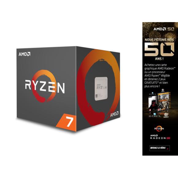 Processeur AMD Ryzen 7 2700 Wraith Spire LED (3.2 GHz) + The Division 2 & World War Z (Dématérialisés)