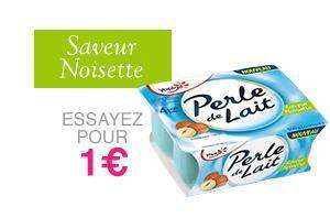 Lot de 3 packs de yaourts Yoplait Perle de lait: café noisette et amande - 4x125g