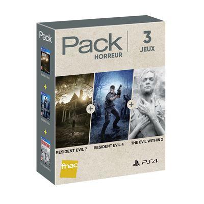 Sélection de packs de jeux sur PS4 - Ex: Resident Evil 7 + Resident Evil 4 + The Evil Within 2