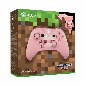 Manette Xbox One Microsoft Sans Fil Edition Limitée Minecraft Pig + Code d'essai Live Gold de 14 jours