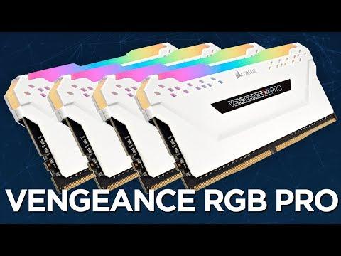 Kit mémoire RAM Corsair Vengeance RGB PRO 32 Go (4 x 8 Go) - DDR4, 3200Mhz, CAS 16