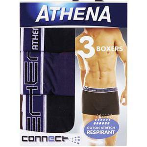 Lot de 3 boxers Athena Connect