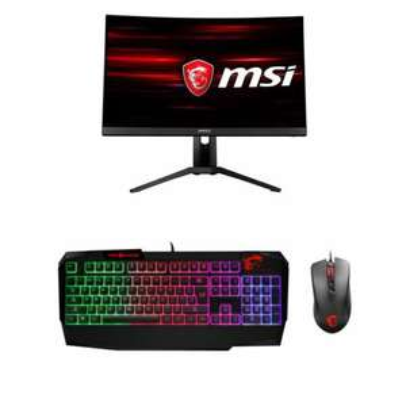 "Ecran PC 27"" LED Optix MAG271CQR + Vigor GK40 mécanique + Clutch GM10 RED LED - 1ms - QWHD 2560*1440 - Dalle VA - 144Hz - AMD FreeSync"
