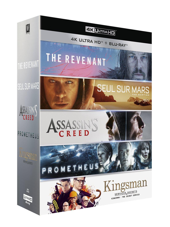 Coffret Blu-ray Le Meilleur de la 4K - 5 Films (The Revenant + Seul sur Mars + Assassin's Creed + Prometheus + Kingsman)