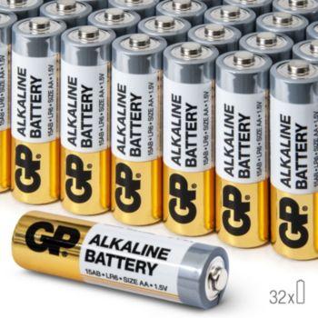 Lot de 32 Piles Alcalines AA GP LR6