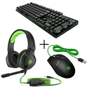 Pack HP Gaming : Souris Pavilion gaming 300 + Casque Pavilion gaming 400 + Clavier mécanique Pavilion gaming Keyboard 500 (switches RED)