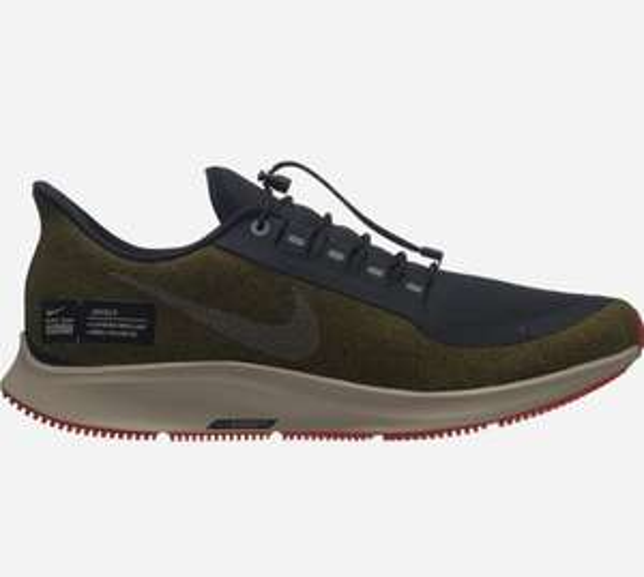 Chaussures de running homme Nike Air Zoom Pegasus 35 Shield - Marrons et tailles au choix