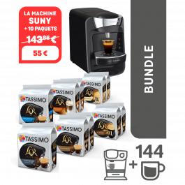 Machine à café Tassimo Suny + 10 paquets de dosettes
