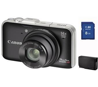 Canon PowerShot SX230 HS Noir + Etui + Carte SDHC 8 Go