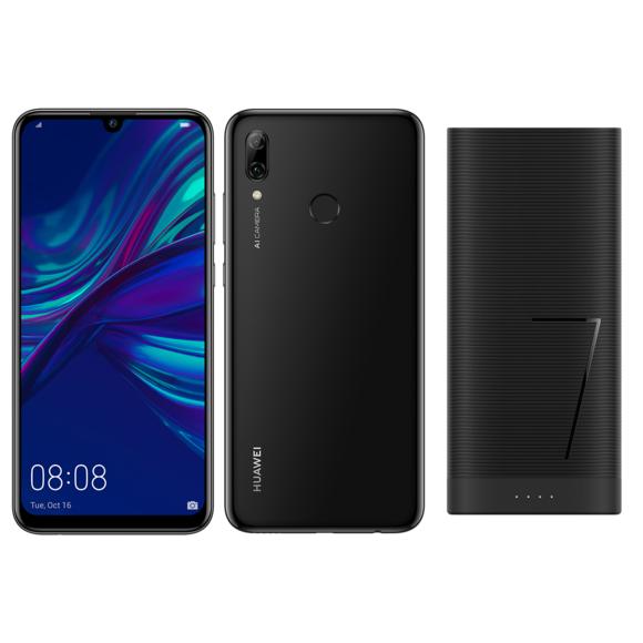 "Smartphone 6.21"" Huawei P Smart 2019 Noir (Full HD+, Kirin 710, RAM 3 Go, ROM 64 Go) + Batterie externe 6 700 mAh"