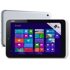 "Tablette 8"" Acer W3-810 (HD, Z2760 Dual Core 1.5 GHz, 2 Go RAM, 32 Go) - Reconditionnée (Grade A)"