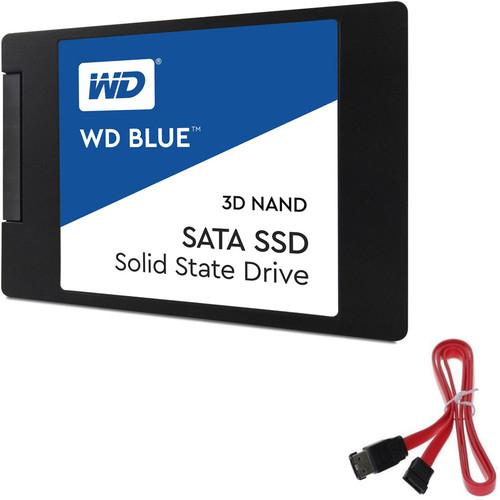 "SSD interne 2.5"" Western Digital WD Blue NAND 3D - 500 Go, SATA III + Câble SATA"