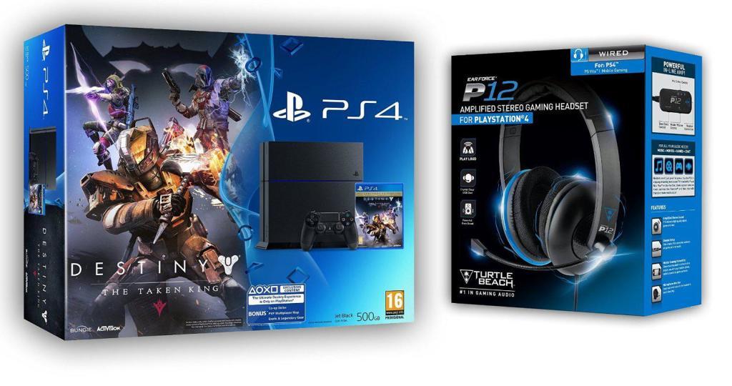 Pack Console PS4 500Go + Destiny le Roi des Corrompus + Micro-casque Turtle Beach P12