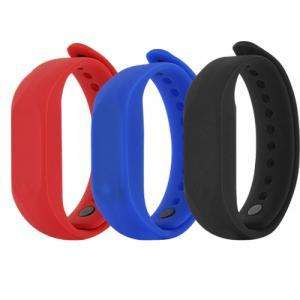Lot de 6 Bracelets connectés Smartband Colorblock (Ecran LED, Bluetooth 4.0, étanche 30m)