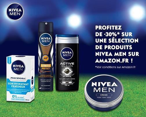 30% de réduction sur une sélection d'articles Nivea Men