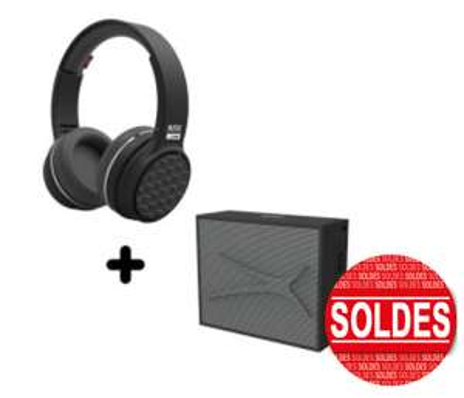 Pack audio bluetooth Casque Ring N Go + enceinte Pocket - ALTEC LANSING - Noir
