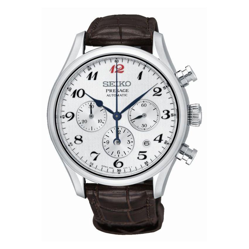 Montre automatique chronographe Seiko Presage SRQ025J1 (calibre 8R48) - Bijouterie-Clouzeau.fr