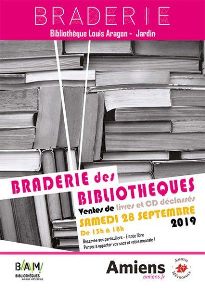 Braderie de livres et CD de 1€ à 10€ le livre à Bibliothèque Louis Aragon  Amiens (80)