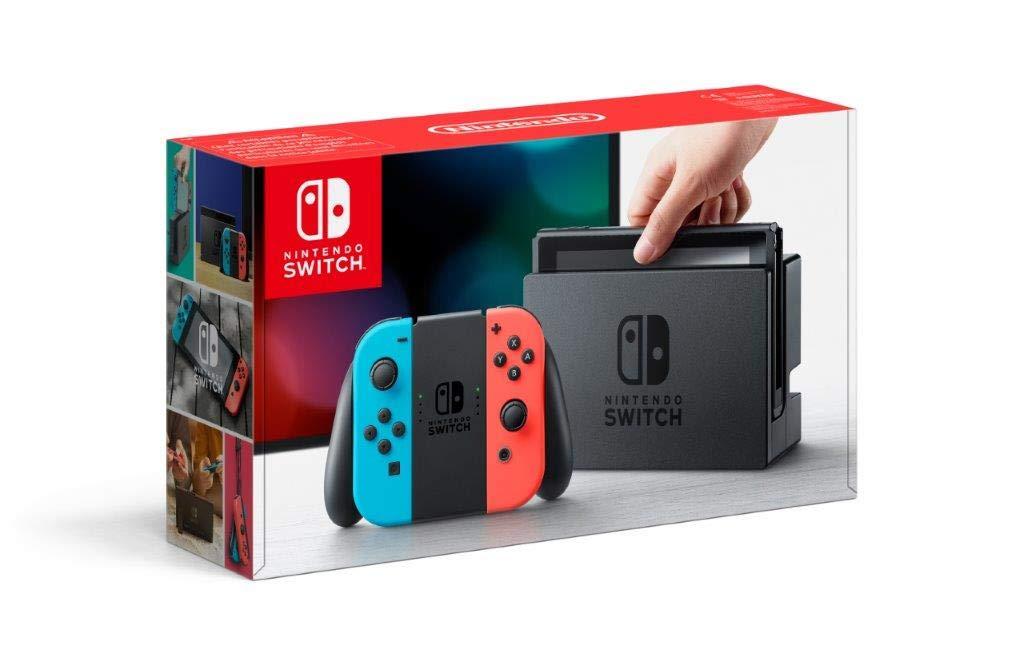Console Nintendo Switch avec Joy-Con rouge néon/bleu néon