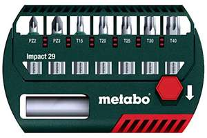 Kit de 8 embouts Metabo Impact 29 mm