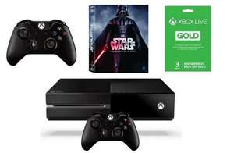 Pack console Microsoft Xbox One 500 Go Noire + Intégrale Bluray Star Wars + 2e Manette + 3 Mois Xbox Live