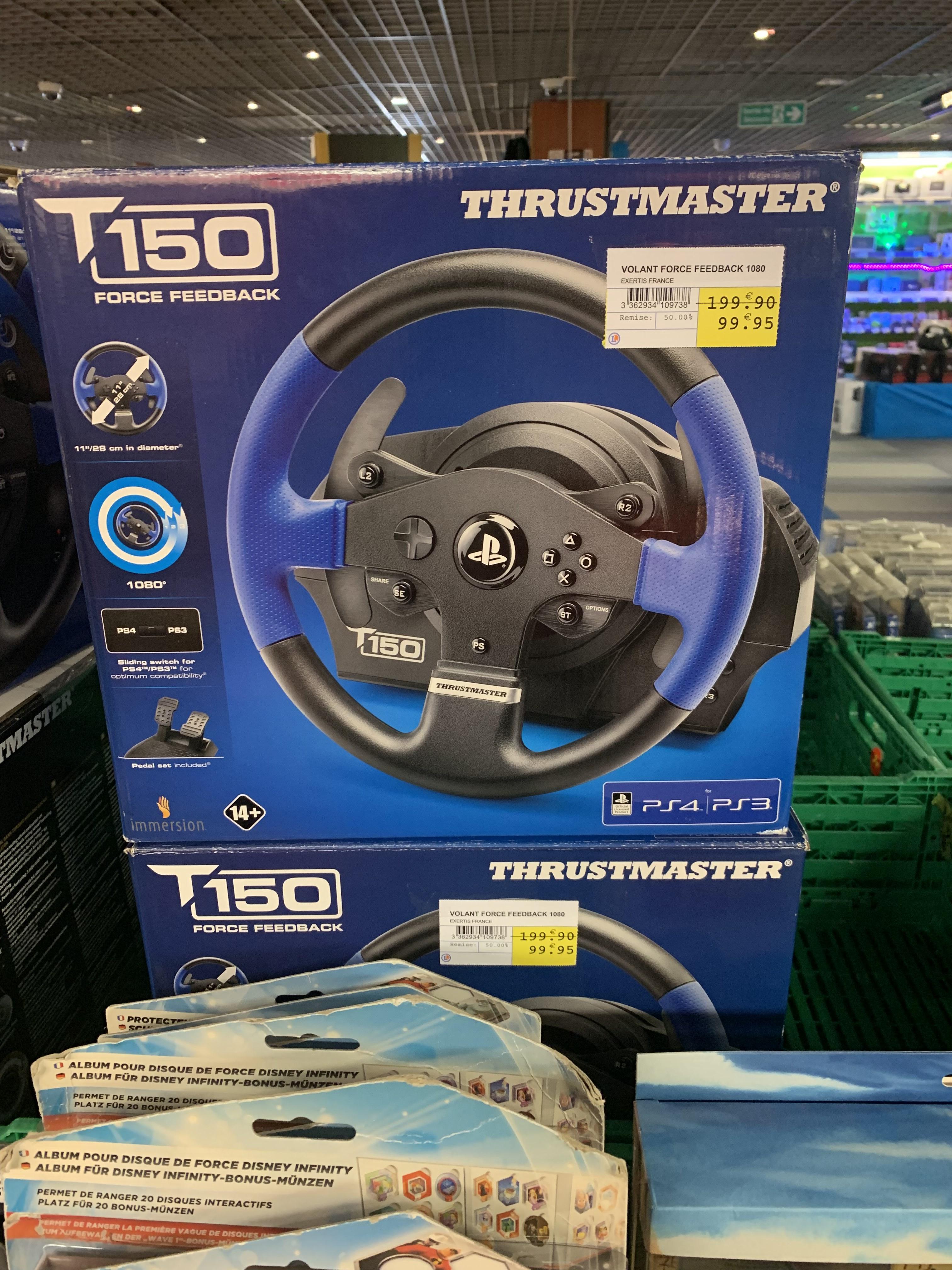 Volant pour jeux vidéo Thrustmaster T150 Force Feedback - Clichy-sous-Bois (93)
