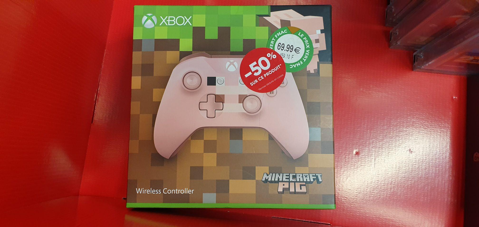 Manette sans-fil Microsoft Xbox One Minecraft Pig (rose) - Paris Ternes (75) / Valenciennes (59)