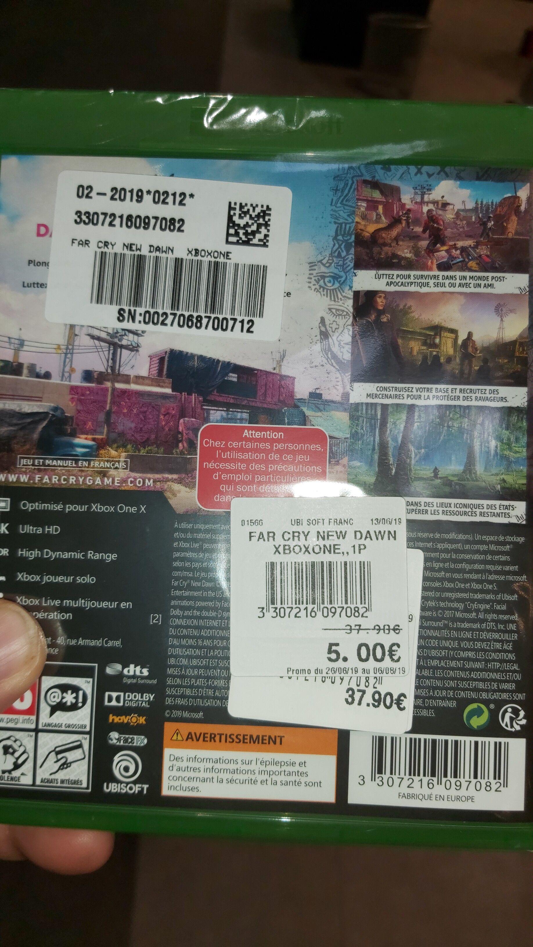 Sélection de jeux sur PS4 ou Xbox One en promotion - Ex:  Jeu Far cry New dawn Urrugne (64)