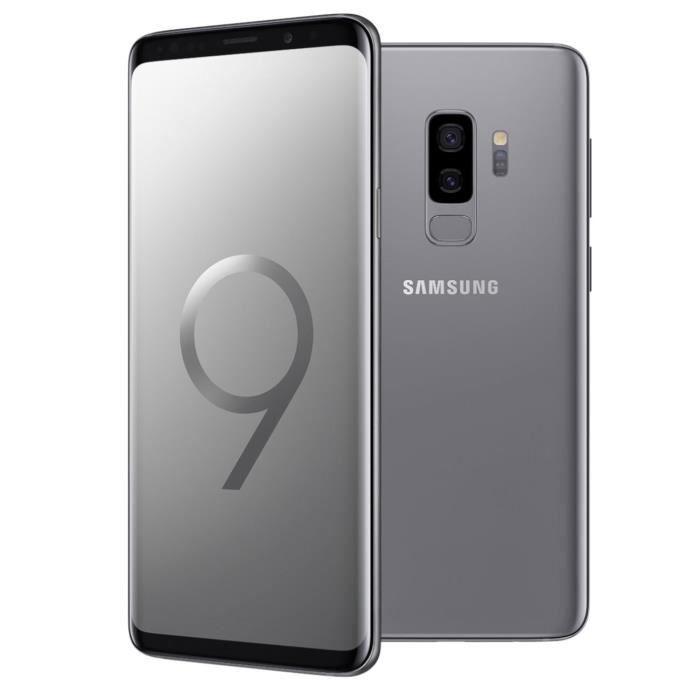 """Smartphone 6.2"""" Samsung Galaxy S9+ - WQHD+, Exynos 9810, 6 Go de RAM, 256 Go, gris"""