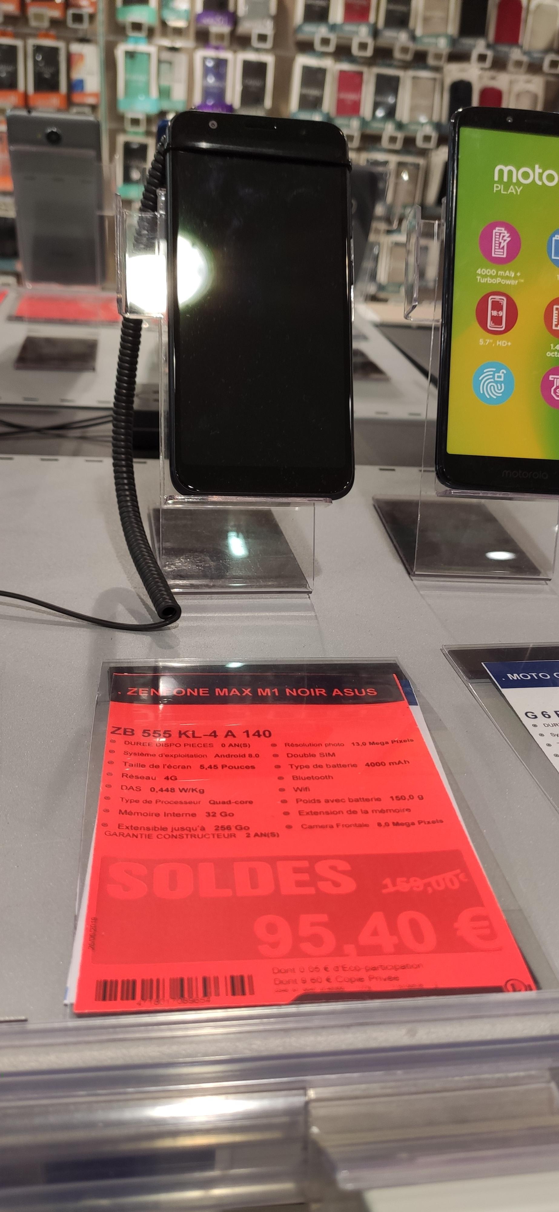"""Smartphone 5.55"""" Asus ZenFone Max  (M1) Double Sim - full HD+, 3 Go de RAM, 32 Go, noir - Fleury-les-Aubrais (45)"""