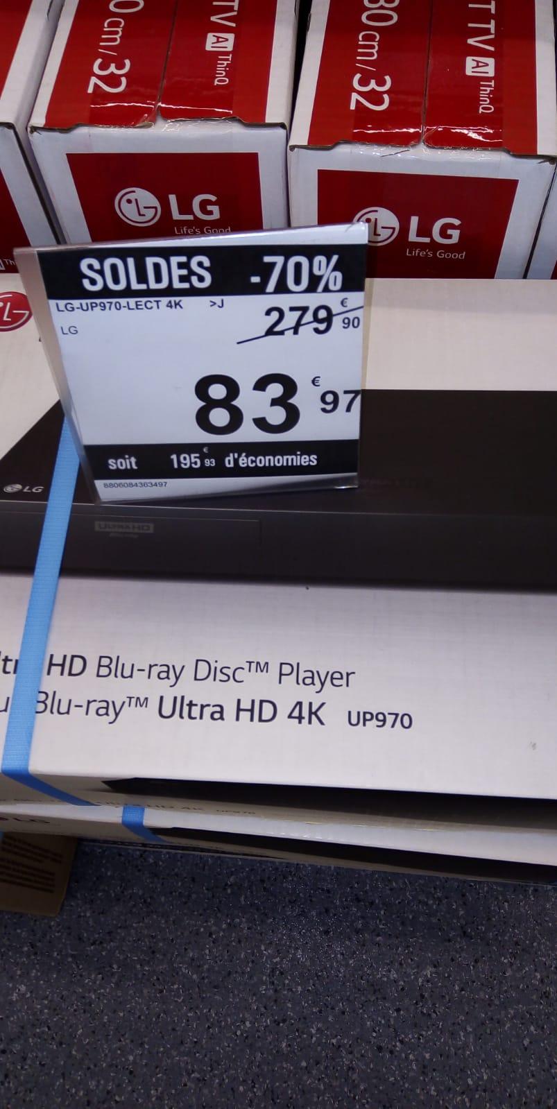 Lecteur Blu Ray LG UP970 UHD 4K - Part-Dieu Lyon (69)