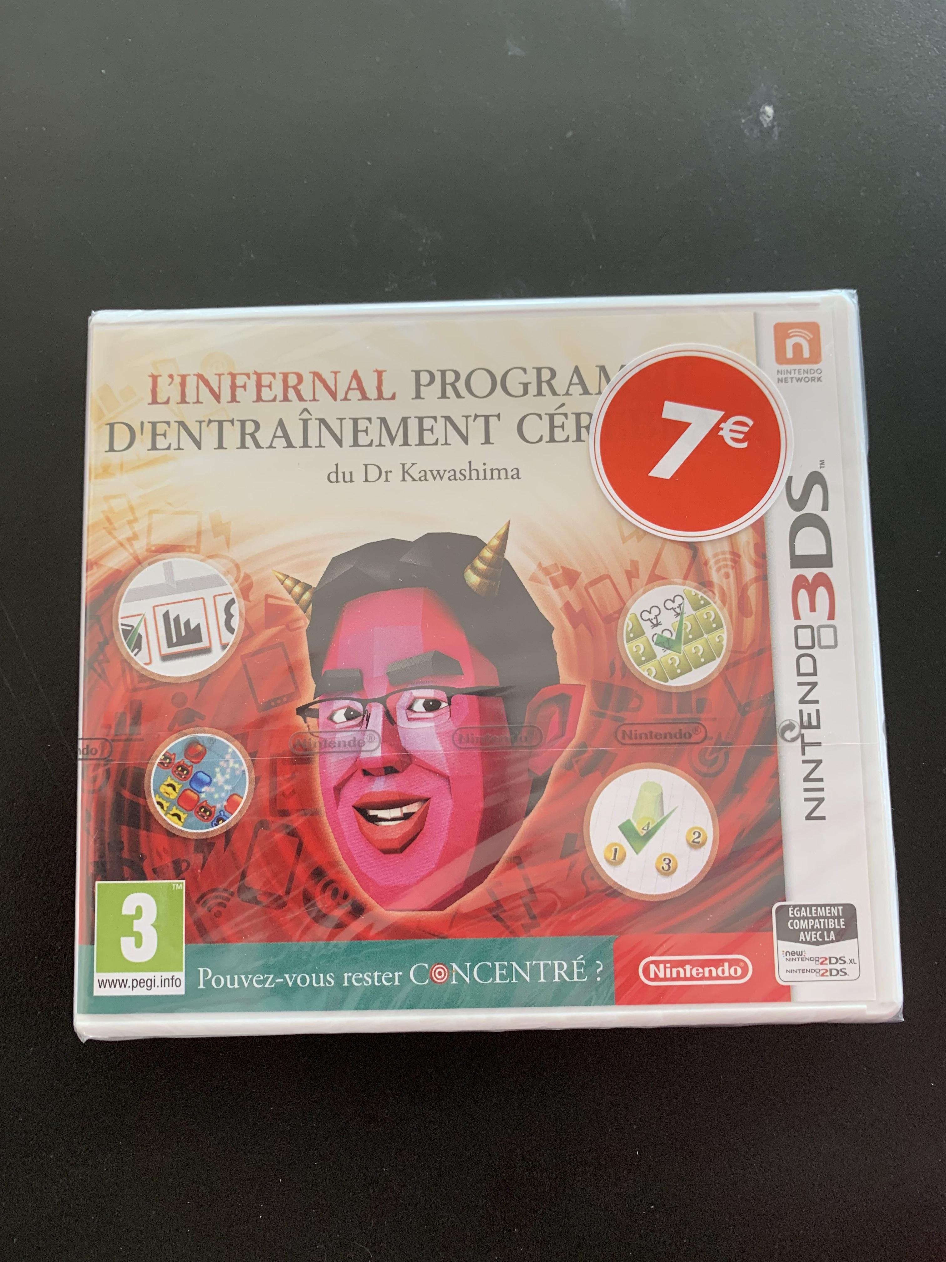 L'infernal programme d'entraînement cérébral du Dr Kawashima sur Nintendo 3DS - Carrefour Nîmes Sud (30)