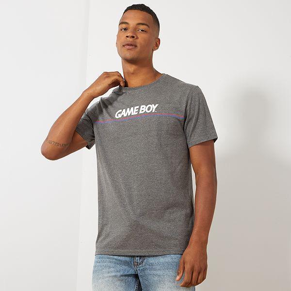 T-shirt homme Game Boy - Gris chiné, Tailles au choix