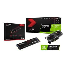 Carte graphique PNY GeForce GTX 1660 Ti XLR8 Gaming OC Limited Edition (6 Go) + SSD interne M.2 NVMe PNY CS3030 (250 Go)
