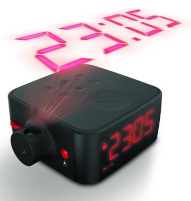 Radio réveil Poss PCRP100B avec projection