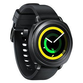 Montre connectée Samsung Gear Sport - Tizen OS , Stockage 4 Go, GPS, Noire