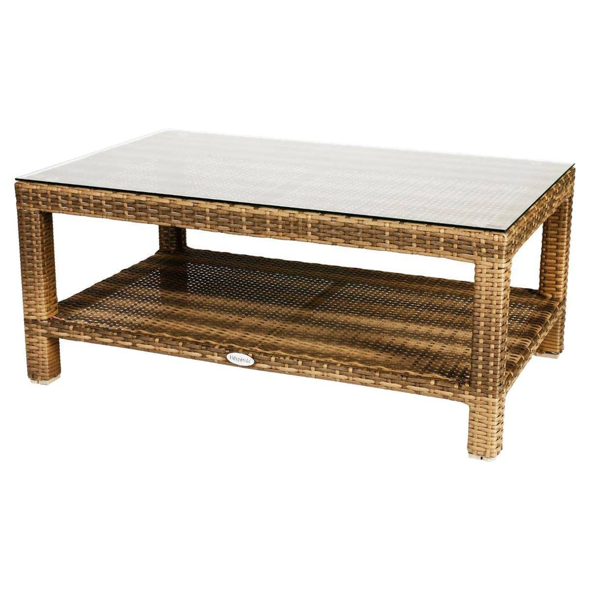 Table basse de jardin rectangulaire Cuba Naturae - 102x65x44 cm - Hespéride