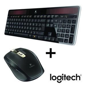 Pack Logitech clavier sans fil solaire K750 + souris sans fil Anywhere