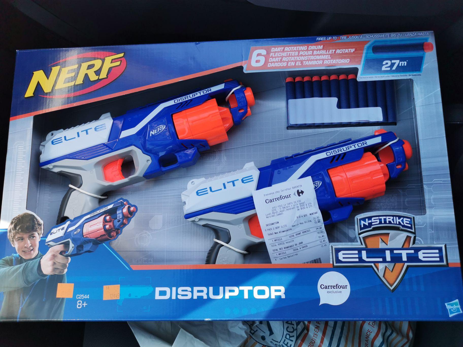 Lot de 2 Pistolets Nerf Elite Disruptor - Barentin (76)