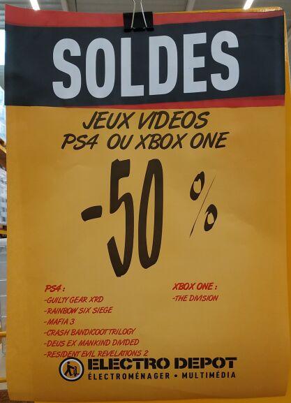 50% de réduction sur une séléction de jeux vidéos - Ex: Crash Bandicoot N. Sane TrilogY sur PS4 - Coquelles (62)