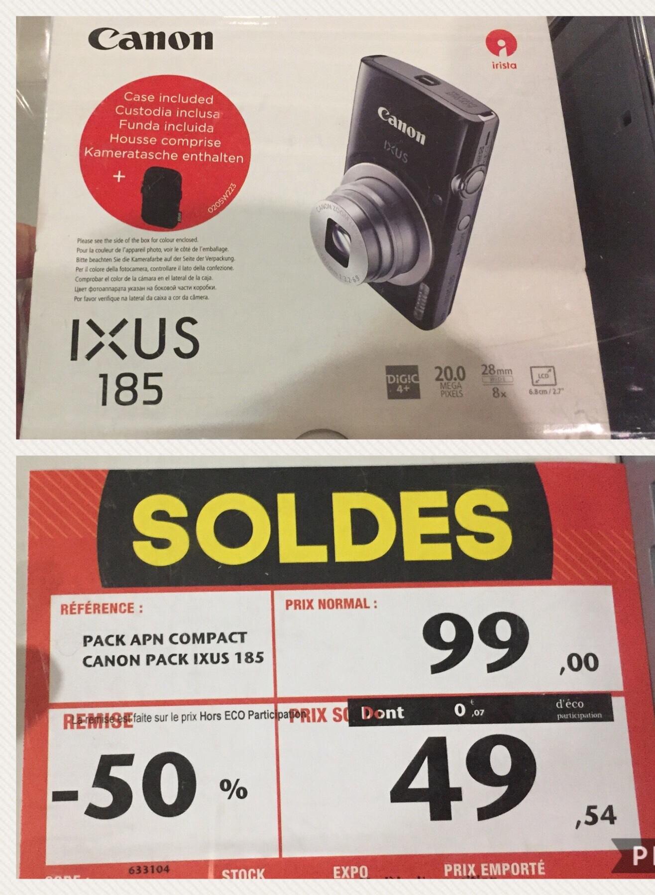 Appareil photo Canon Compact IXUS 185 - Paris Etoile (75)