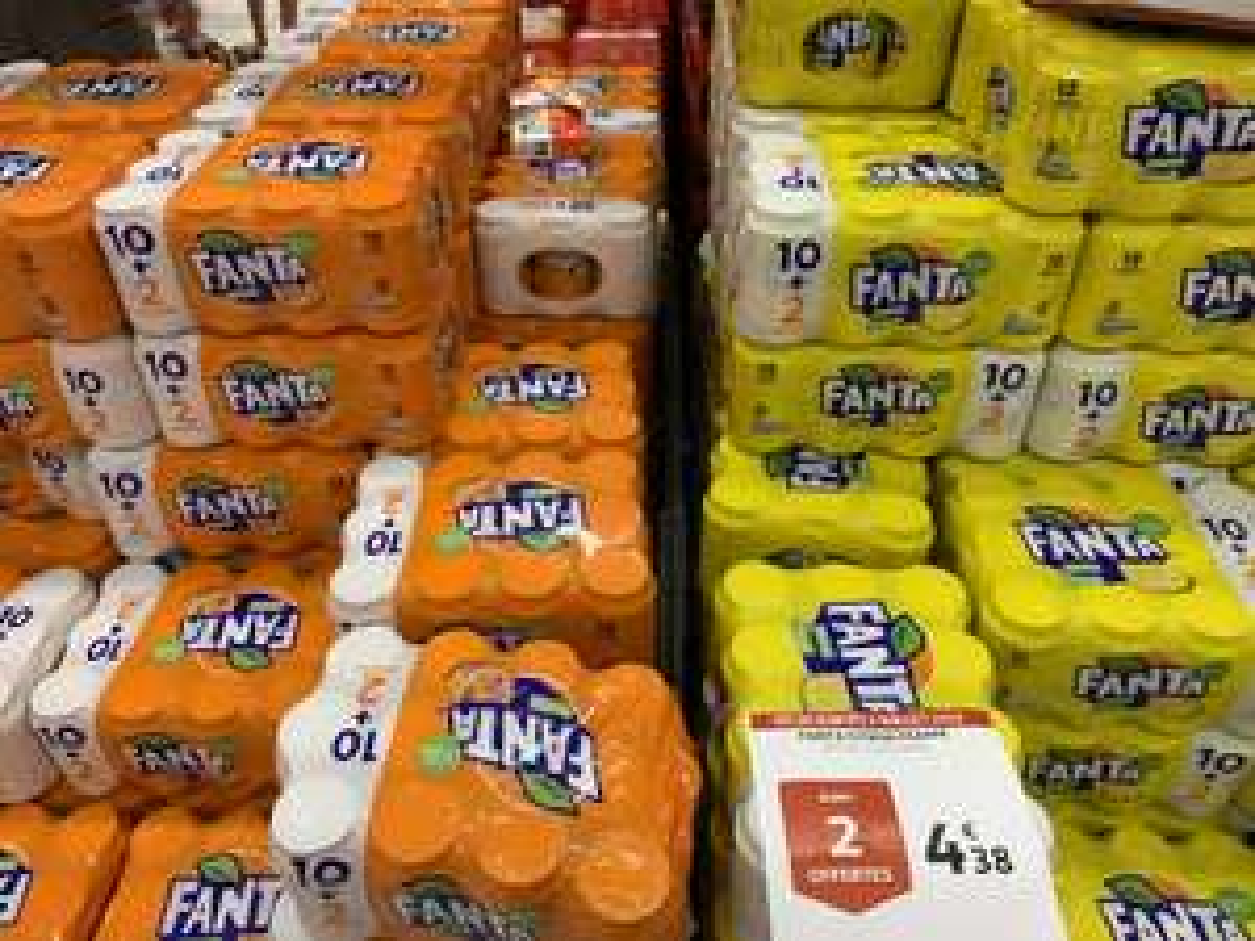 Lot de 12 canettes de Fanta - Citron/Orange, Auchan Sarcelles (95)