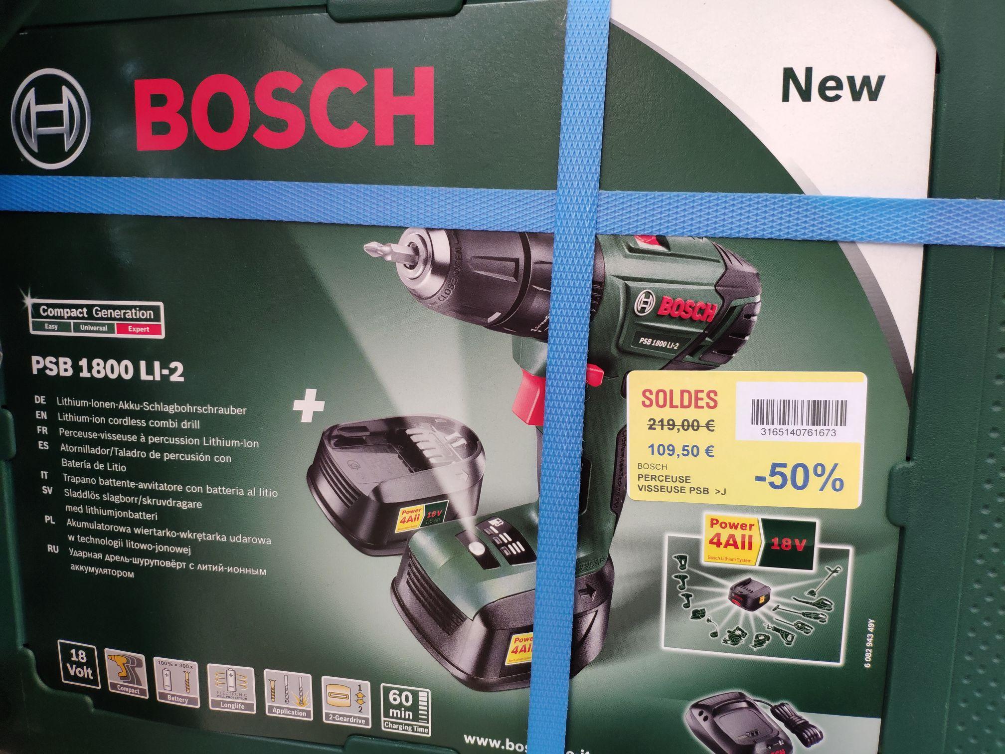 Perceuse-visseuse sans-fil Bosch PSB 1800 Li-2 (18 V) - avec chargeur et 2 batteries 1.5 Ah - Labège (31)