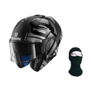 Casque de moto modulable Shark evo one 2 lithion + cagoule