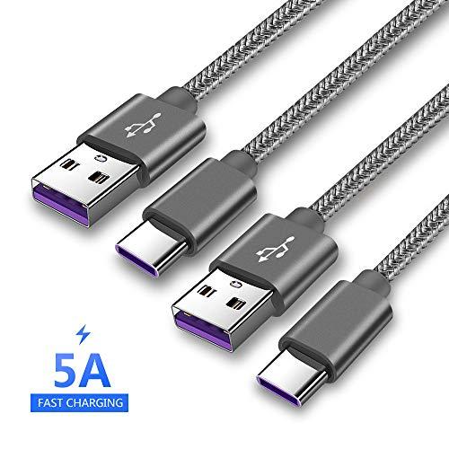 Lot de 2 Câbles USB-C Happy Buying SuperCharge 5A - 2 x 1m (Vendeur Tiers)