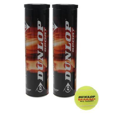2 packs de 4 balles de tennis Dunlop