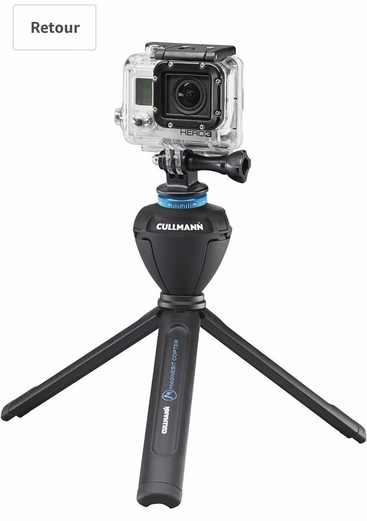 Kit Trépied de table à tête panoramique électrique 360° Cullmann SMARTpano 360CP avec Housse Télécommande IR Bluetooth